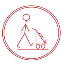 Push Symbol Red