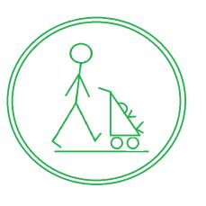 Push Symbol Green